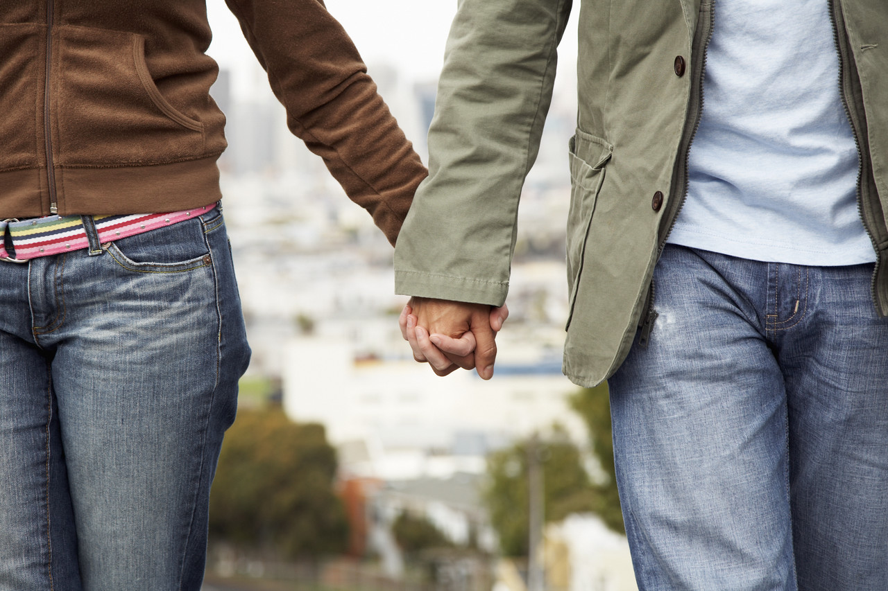 Couple Holding Hands --- Image by © Royalty-Free/Corbis